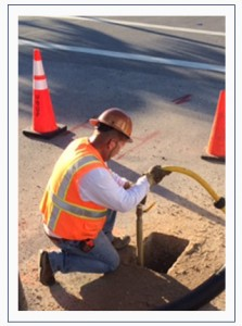 Utility Potholing Test Hole via Air / Vacuum Excavation Methods